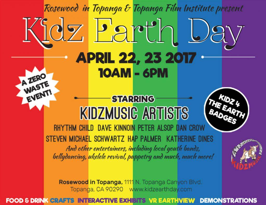 Earth Day kids music festival in Topanga Canyon, CA with Dan Crow